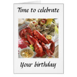 LOBSTER BOIL BIRTHDAY WISHES GREETING CARD