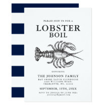 Lobster Boil Vintage Style Crab Invitations