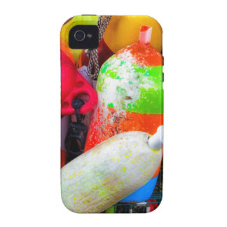 Lobster buoys at Bass Harbor Vibe iPhone 4 Cases