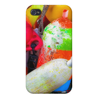 Lobster buoys at Bass Harbor iPhone 4/4S Cover