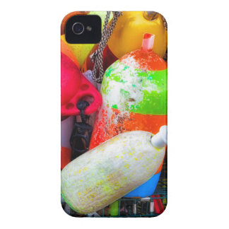 Lobster buoys at Bass Harbor iPhone 4 Case