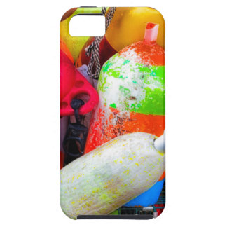 Lobster buoys at Bass Harbor iPhone SE/5/5s Case