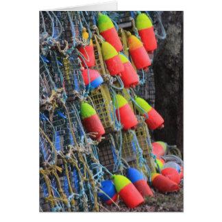 Lobster  Buoys Card