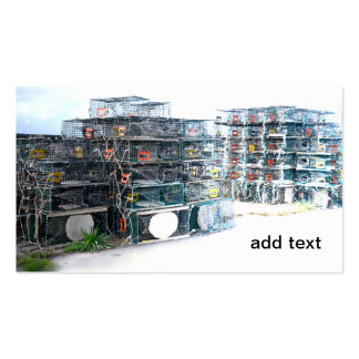 lobster cages or traps Double-Sided standard business cards (Pack of 100)