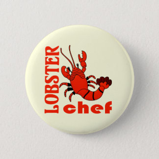 lobster chef pinback button