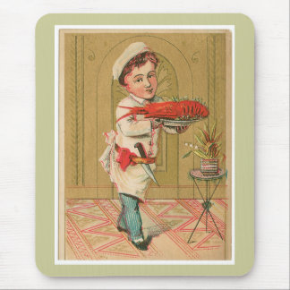 Lobster Chef Vintage Food Ad Art Mouse Pad