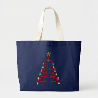 Lobster Christmas tree cute party ugly    tote bag