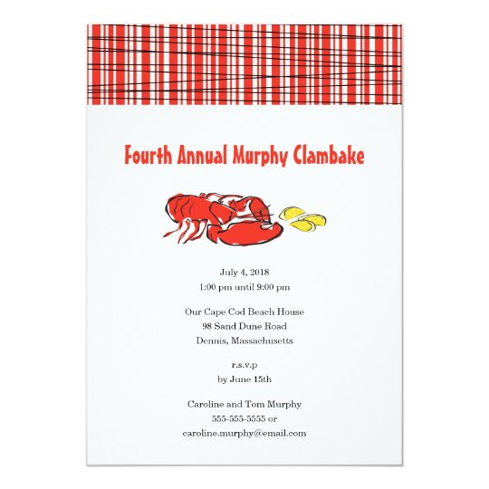 lobster clambake summer cookout invitation zazzle com