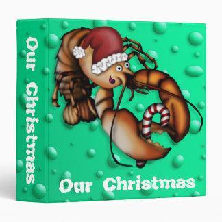 Lobster Claus, 1.5 inch binder