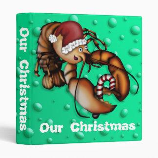 Lobster Claus, 1 inch binder