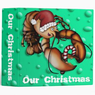 Lobster Claus, 2 inch binder