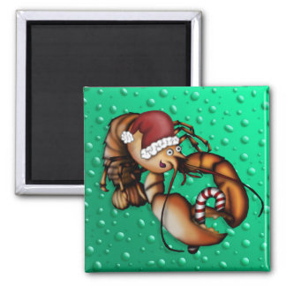 Lobster Claus, magnet