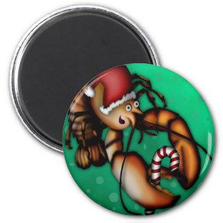 Lobster Claus, magnet round
