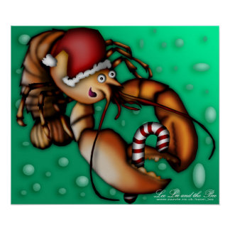 Lobster Claus Poster