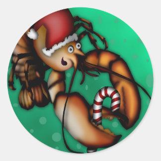 Lobster Claus, sticker