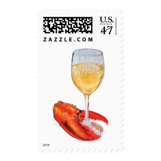 Lobster Claw and Wine Postage