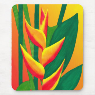 Lobster Claw Flower Mouse Pad