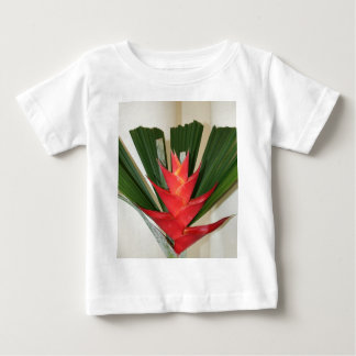 Lobster claw Heliconia flower baby T shirt