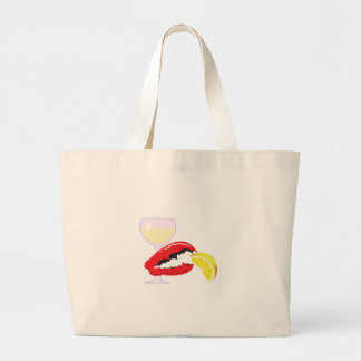 LOBSTER CLAW WITH WINE LARGE TOTE BAG