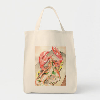 Lobster Coastal Living Shopping Organic Tote