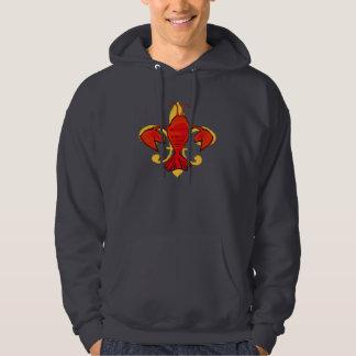 Lobster, Crawfish Fleur De Lis Hoodie