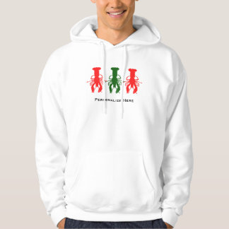 Lobster Crawfish Silhouette Christmas Hoodie