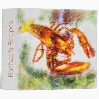 Lobster Custom Kitchen Recipe Binder