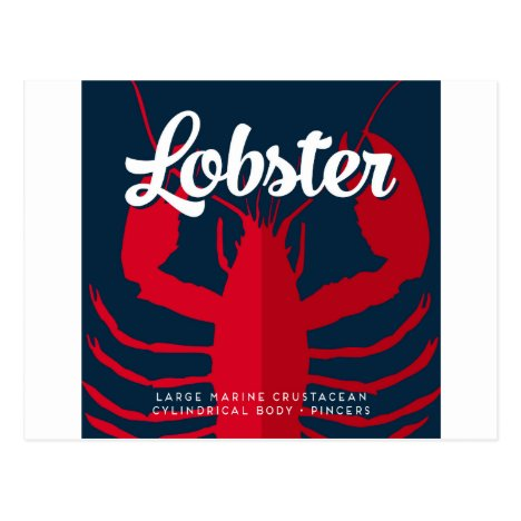 Lobster Defined - Nautical Ocean Design Postcard