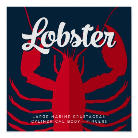 Lobster Defined - Nautical Ocean Design Poster