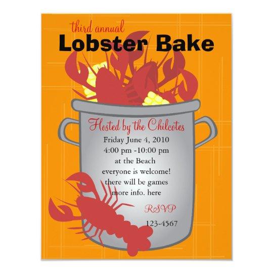 Lobster Dinner Card