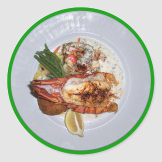 Lobster Dinner Classic Round Sticker