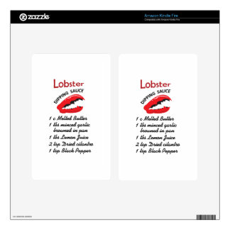 LOBSTER DIPPING RECIPE KINDLE FIRE SKIN