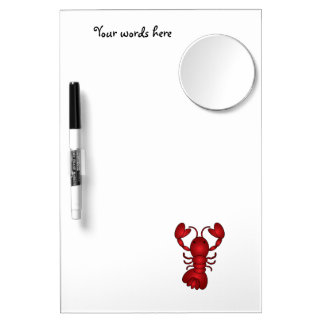 Lobster Dry Erase Board With Mirror