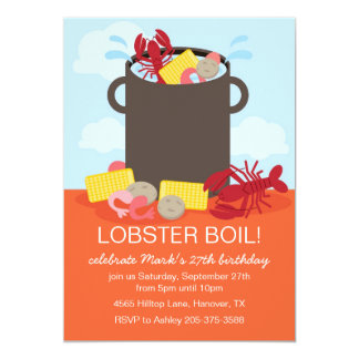Lobster Feast Party Invitation