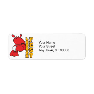 lobster fest lobster fest lobster waiter label