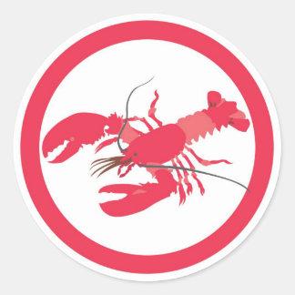 Lobster flavor circle sticker labels