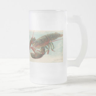 Lobster Frosted Glass Beer Mug