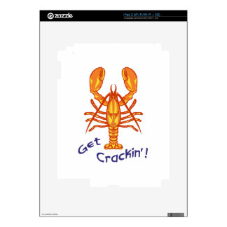 LOBSTER GET CRACKIN DECAL FOR iPad 2