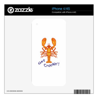 LOBSTER GET CRACKIN iPhone 4 DECAL
