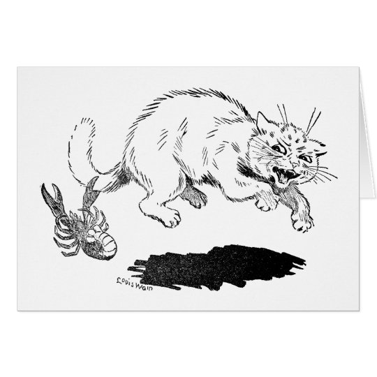 Lobster Has Cat By the Tail Card