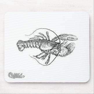 Lobster Illustration Mouse Pad