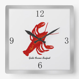 Lobster Image Custom Restaurant Wall Clock