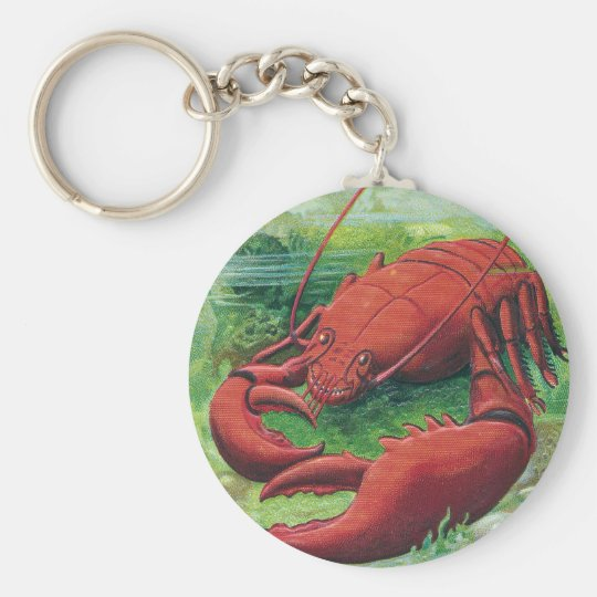 Lobster in the Ocean Vintage Keychain