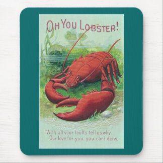 Lobster in the Ocean Vintage Mouse Pad