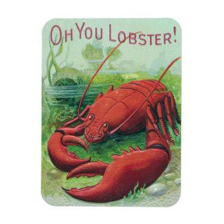 Lobster in the Ocean Vintage Rectangular Photo Magnet