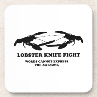 Lobster Knife Fight Drink Coaster