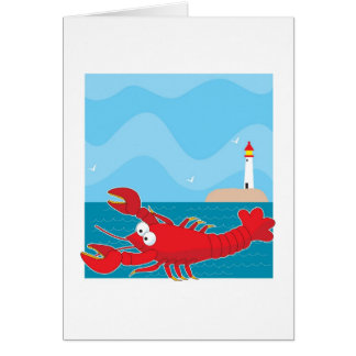 Lobster Light House Card
