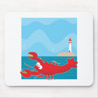 Lobster Light House Mouse Pad