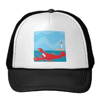 Lobster Light House Trucker Hat