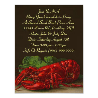 Lobster Lobsters Party Dinner or BYOL Invitation
